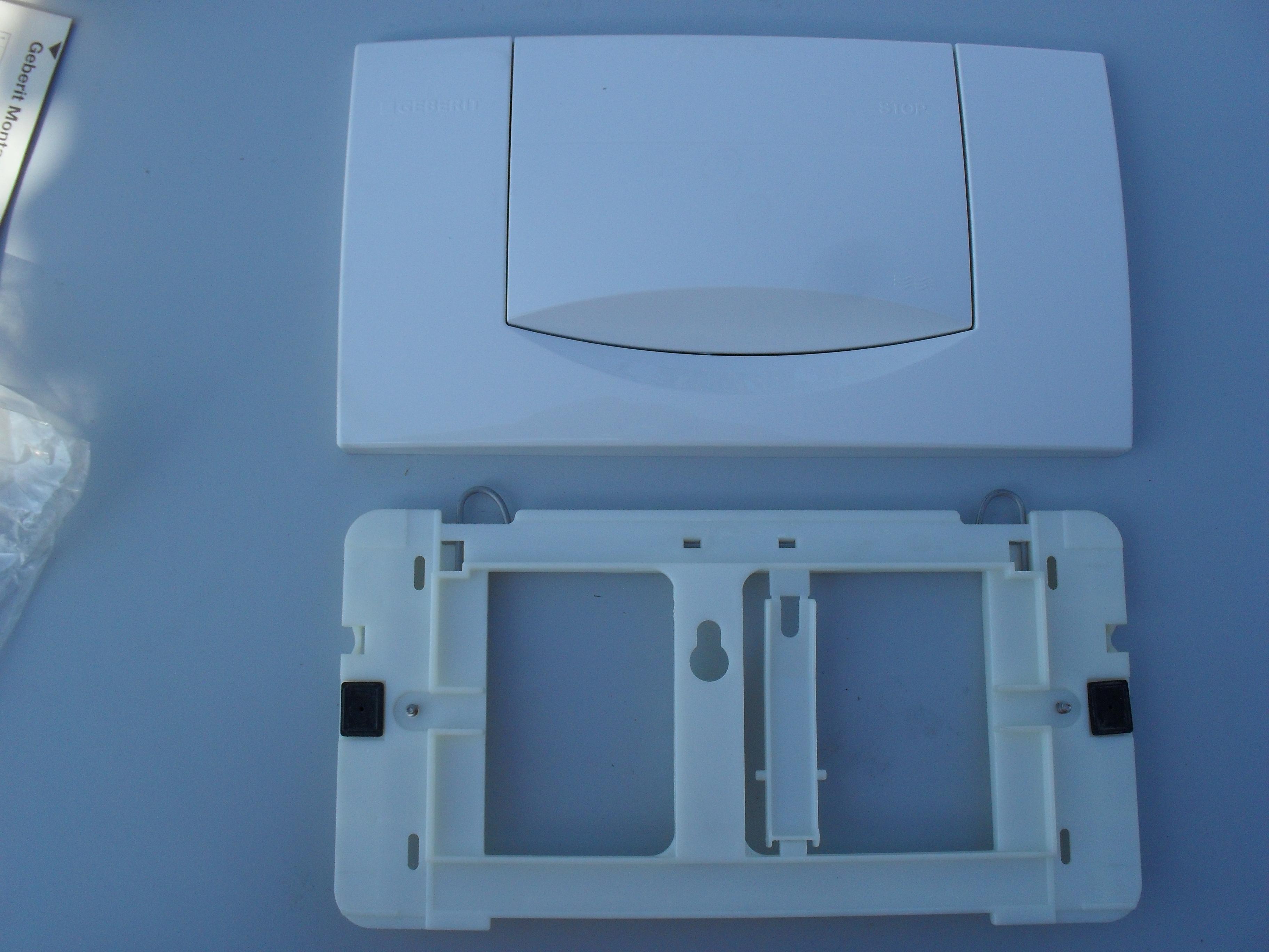 bedieningsplaat geberit 200f wit qelvin. Black Bedroom Furniture Sets. Home Design Ideas